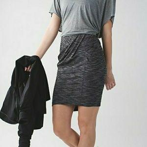 Lululemon &go Where-To Skirt  Heathered Black